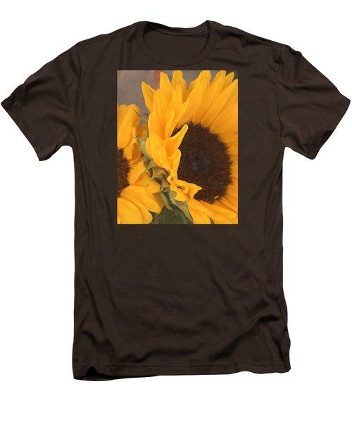 Men's T-Shirt (Slim Fit) featuring the digital art Sun Flower by Jana Russon