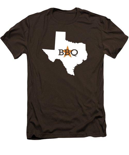 Texas Bbq Men's T-Shirt (Slim Fit) by Nancy Ingersoll