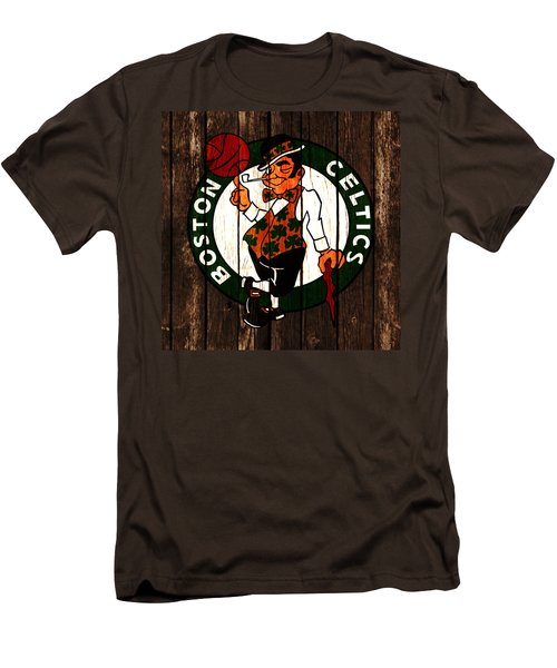 The Boston Celtics 2d Men's T-Shirt (Slim Fit) by Brian Reaves