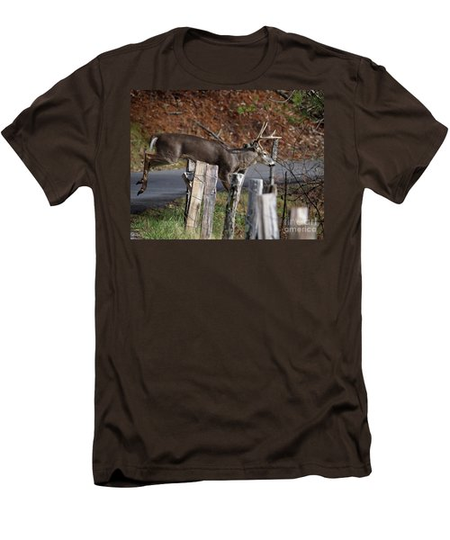 Men's T-Shirt (Slim Fit) featuring the photograph The Jumper 2 by Douglas Stucky
