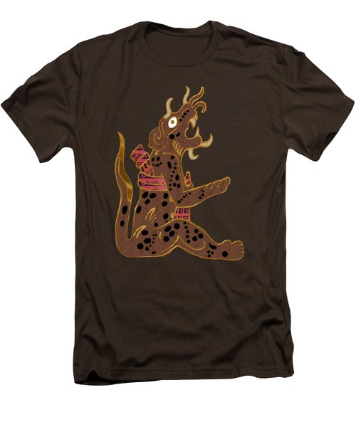 The Leopard Man Mayan Men's T-Shirt (Slim Fit) by Sharon and Renee Lozen