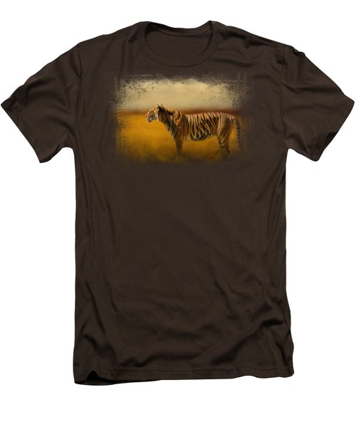 Tiger In The Golden Field Men's T-Shirt (Slim Fit) by Jai Johnson
