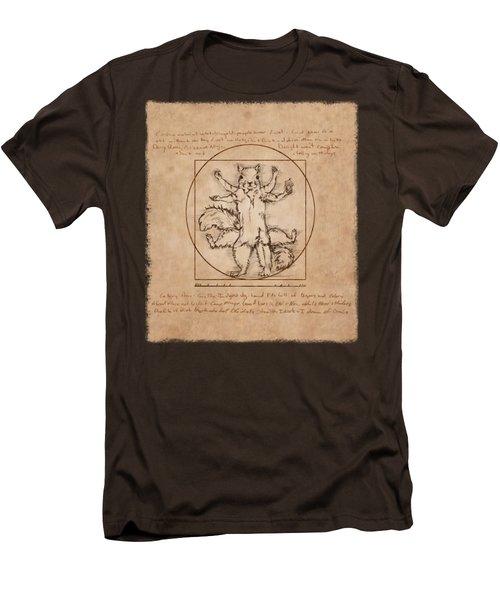 Vitruvian Squirrel Men's T-Shirt (Slim Fit) by Katherine Nutt