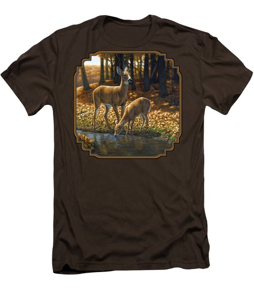 Whitetail Deer - Autumn Innocence 1 Men's T-Shirt (Slim Fit) by Crista Forest
