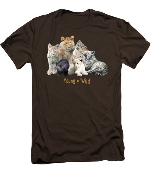 Young And Wild Men's T-Shirt (Slim Fit) by Carol Cavalaris