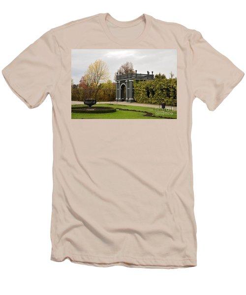 Men's T-Shirt (Slim Fit) featuring the photograph  Garden Gate Schonbrunn Palace Vienna Austria by Imran Ahmed