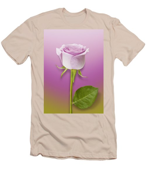 Single Lilac Rose Men's T-Shirt (Athletic Fit)