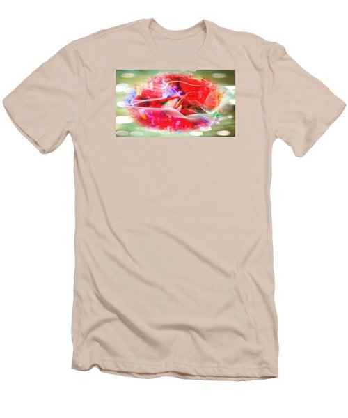 The Flowers Of Fiery Red In Abstract Concept  Men's T-Shirt (Athletic Fit)