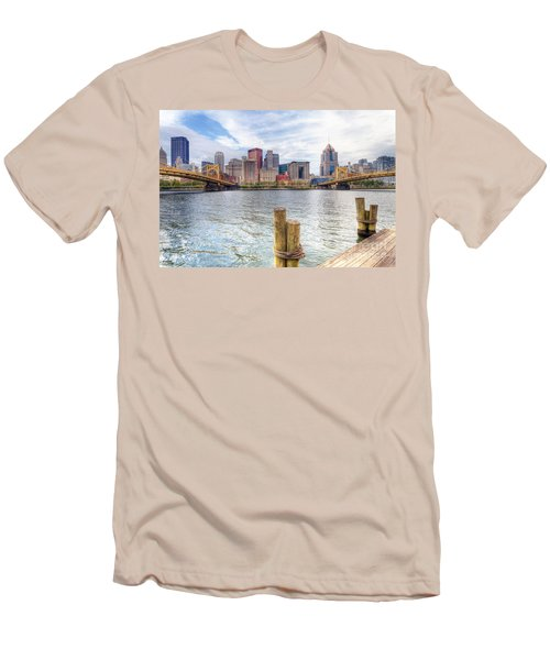 0310 Pittsburgh 3 Men's T-Shirt (Slim Fit) by Steve Sturgill