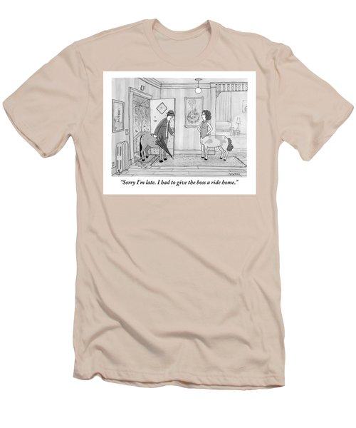 A Male Centaur Men's T-Shirt (Athletic Fit)