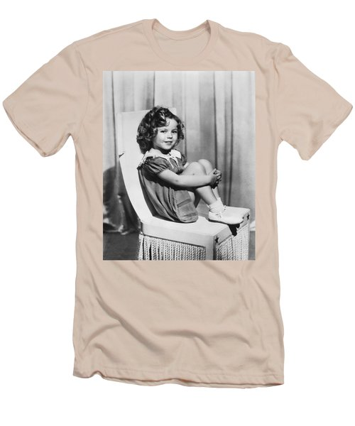 Actress Shirley Temple Men's T-Shirt (Slim Fit) by Underwood Archives