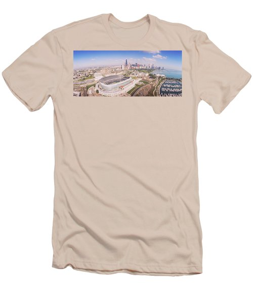 Aerial View Of A Stadium, Soldier Men's T-Shirt (Slim Fit)