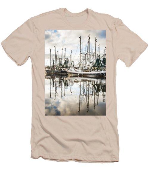 Bayou Labatre' Al Shrimp Boat Reflections Men's T-Shirt (Athletic Fit)