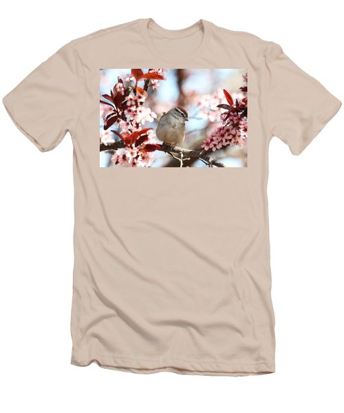 Beautiful Sparrow Men's T-Shirt (Slim Fit) by Trina  Ansel