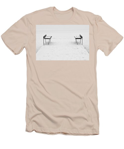 Benches On A Dock Men's T-Shirt (Athletic Fit)