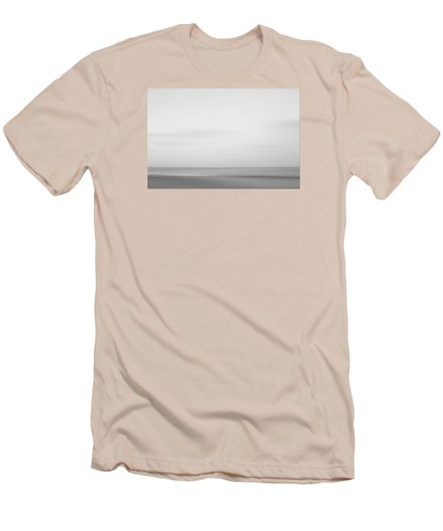 Black And White Abstract Seascape No. 01 Men's T-Shirt (Athletic Fit)