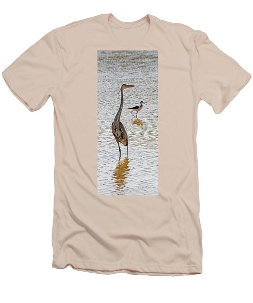 Blue Heron And Stilt Men's T-Shirt (Athletic Fit)