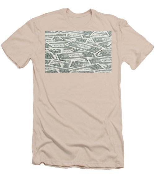 Men's T-Shirt (Slim Fit) featuring the photograph Carpet Of One Dollar Bills by Lee Avison