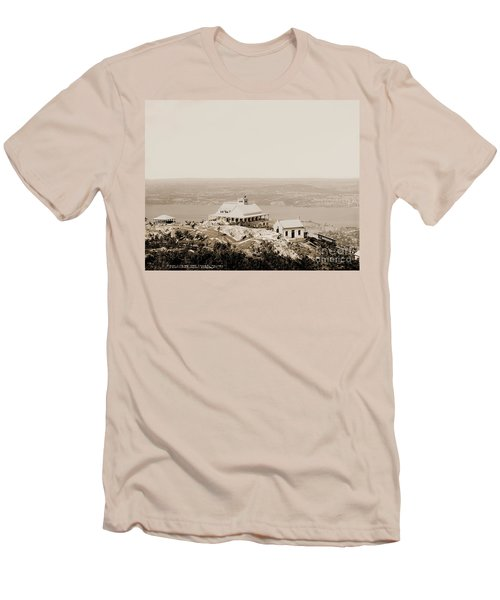 Casino At The Top Of Mt Beacon In Sepia Tone Men's T-Shirt (Athletic Fit)
