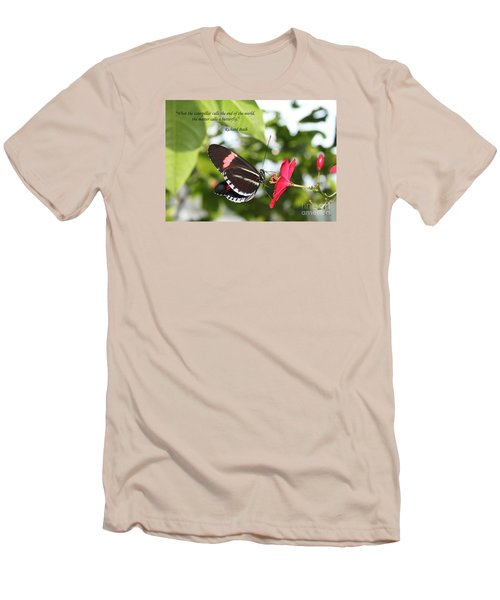 Caterpiller To A Butterfly Men's T-Shirt (Athletic Fit)