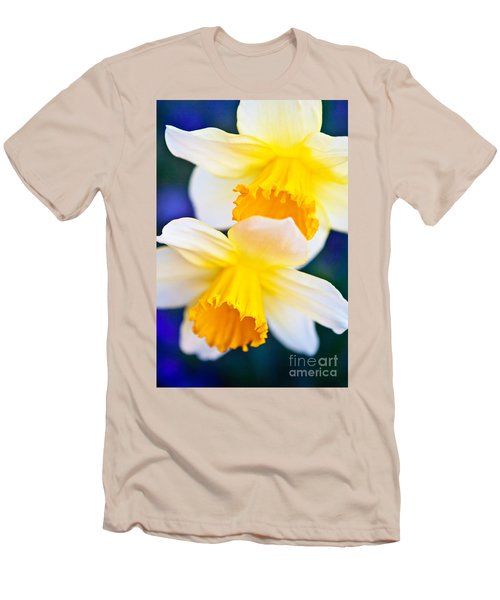 Men's T-Shirt (Slim Fit) featuring the photograph Daffodils by Roselynne Broussard