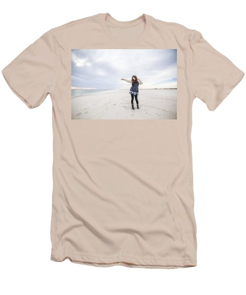 Dance At The Beach Men's T-Shirt (Athletic Fit)