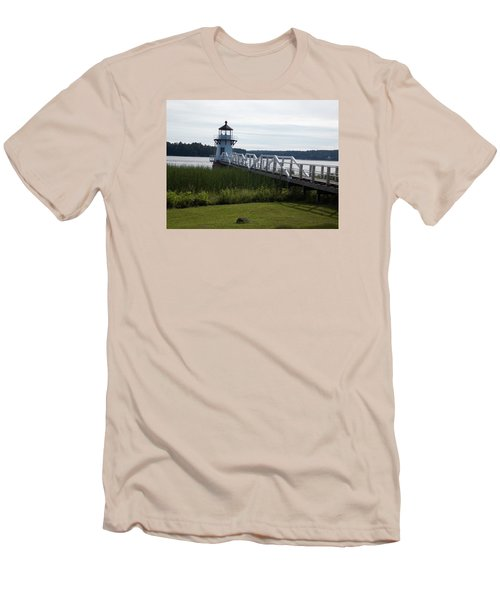 Doubling Point Lighthouse Men's T-Shirt (Slim Fit) by Catherine Gagne