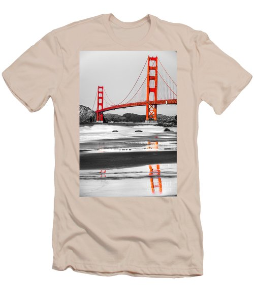 Golden Gate - San Francisco - California - Usa Men's T-Shirt (Slim Fit) by Luciano Mortula