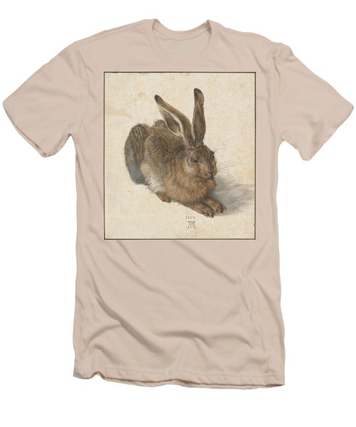 Young Hare Men's T-Shirt (Slim Fit) by Albrecht Durer