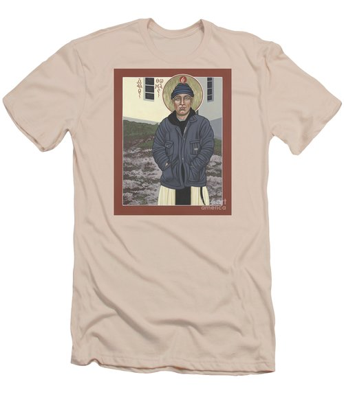 Holy World Evangelist Thomas Merton 267 Men's T-Shirt (Athletic Fit)