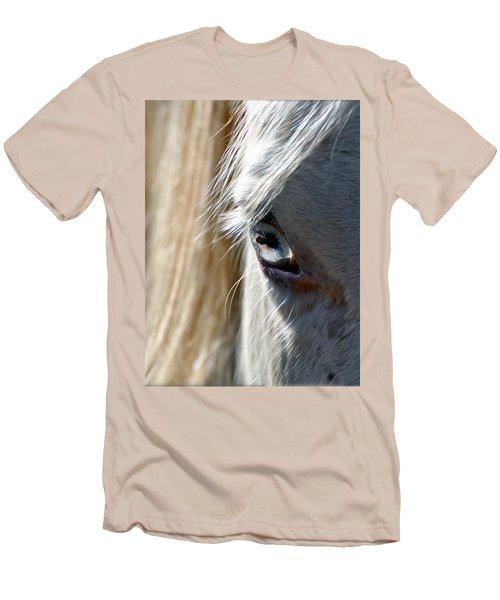 Horse Eye Men's T-Shirt (Slim Fit) by Savannah Gibbs