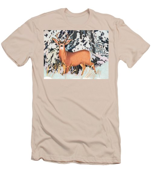 Mule Deer Men's T-Shirt (Slim Fit) by Dan Miller