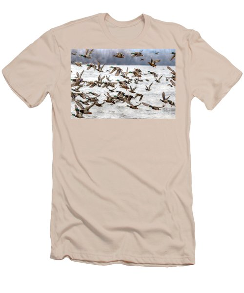 Men's T-Shirt (Slim Fit) featuring the photograph One Direction by Robert Pearson