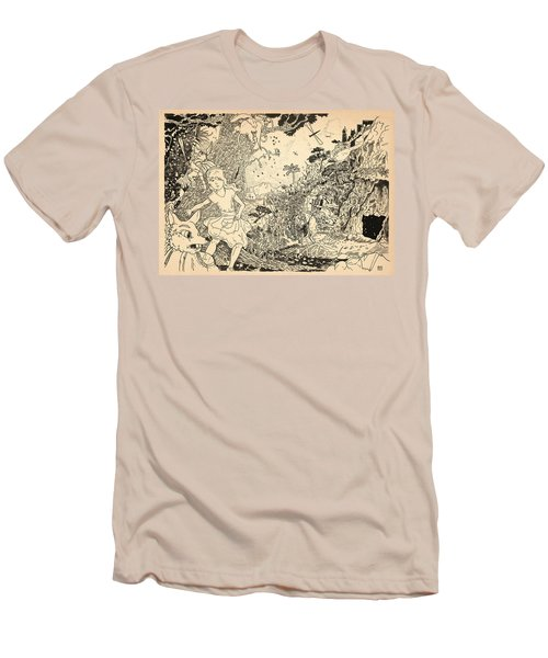 Men's T-Shirt (Slim Fit) featuring the drawing Open Sesame by Reynold Jay