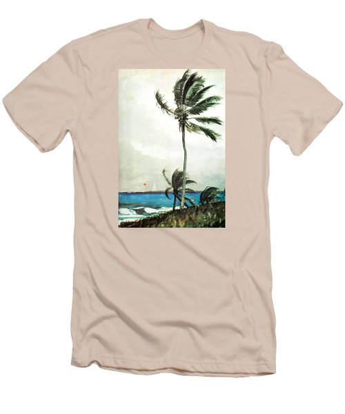 Palm Tree Nassau Men's T-Shirt (Slim Fit) by Celestial Images
