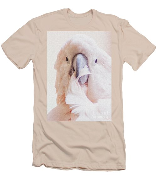 Men's T-Shirt (Slim Fit) featuring the photograph Parrot Flair by Roselynne Broussard