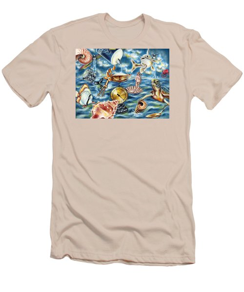 Men's T-Shirt (Slim Fit) featuring the painting Recipe Of Ocean by Hiroko Sakai