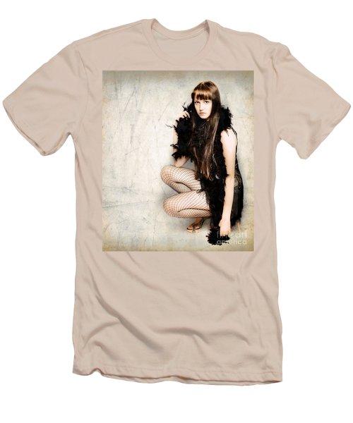 Sexy Pert Cabaret Girl Men's T-Shirt (Athletic Fit)