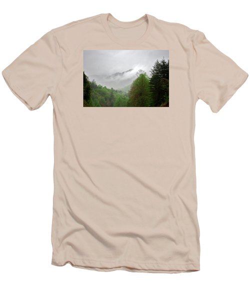 Smoky Mountains Men's T-Shirt (Slim Fit) by Lawrence Boothby
