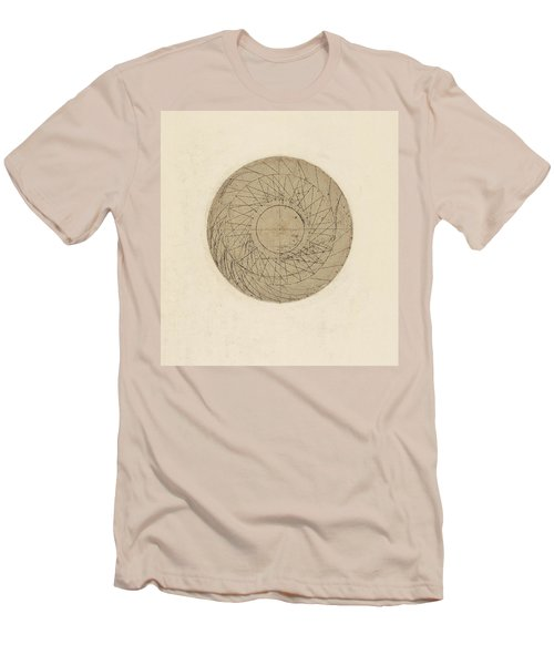 Study Of Water Wheel From Atlantic Codex Men's T-Shirt (Athletic Fit)