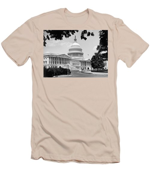 The Capitol Building Men's T-Shirt (Slim Fit) by Underwood Archives