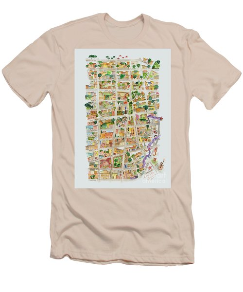 The Way West Village Men's T-Shirt (Slim Fit) by AFineLyne