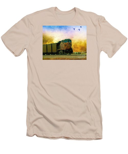 Union Pacific Coal Train Men's T-Shirt (Athletic Fit)
