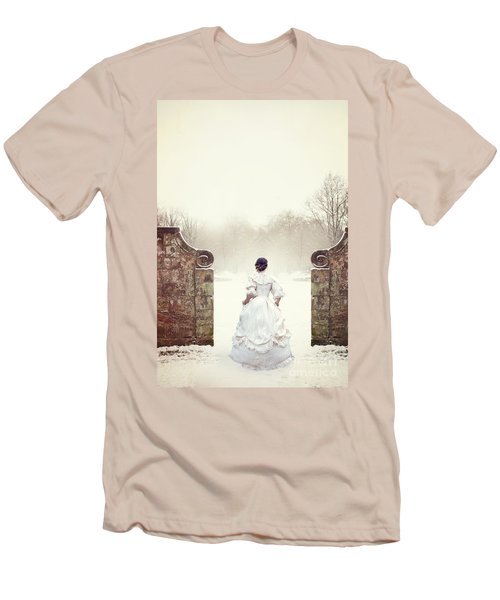 Victorian Woman In Snow Men's T-Shirt (Athletic Fit)