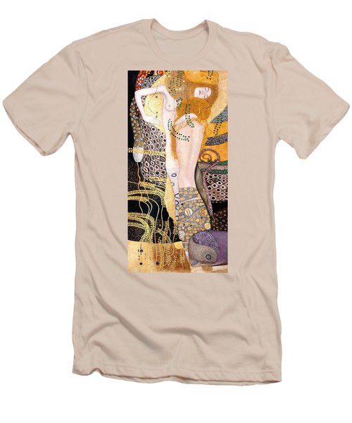 Water Serpents I Men's T-Shirt (Slim Fit) by Gustav Klimt