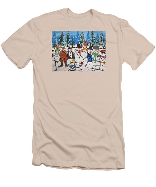 10 Christmas Snowmen  Men's T-Shirt (Athletic Fit)