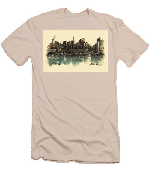Boston Skyline Men's T-Shirt (Athletic Fit)