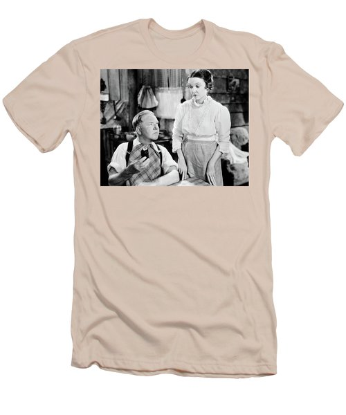 Men's T-Shirt (Slim Fit) featuring the photograph W.c. Fields by Granger