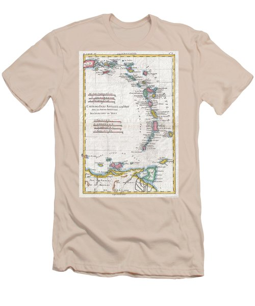 1780 Raynal And Bonne Map Of Antilles Islands Men's T-Shirt (Athletic Fit)