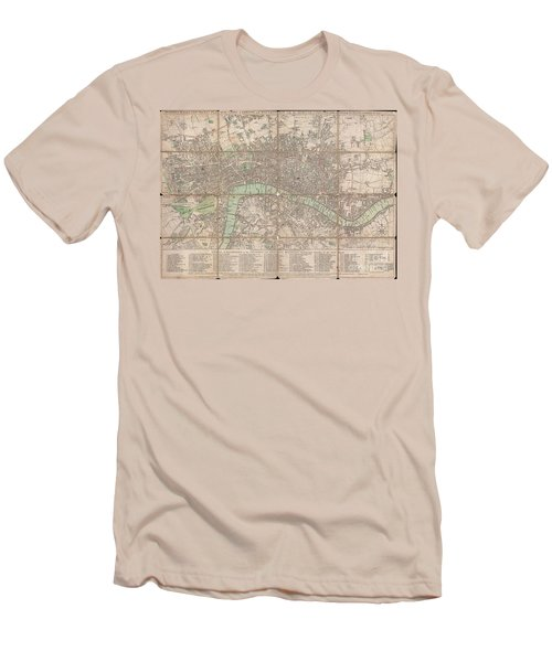 1795 Bowles Pocket Map Of London Men's T-Shirt (Athletic Fit)